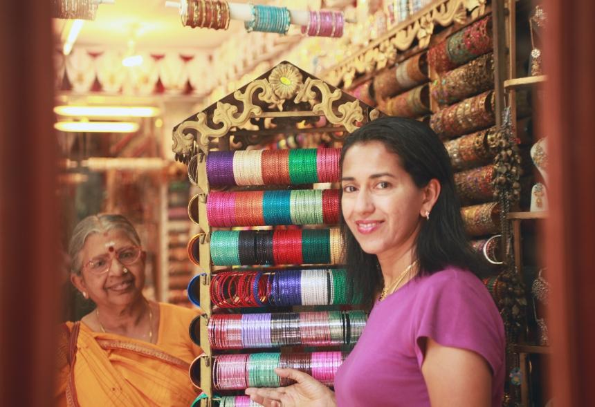 Shobha Narayan with her Mother